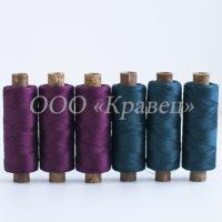 Набор ниток особопрочных для рукоделия и отстрочки Парус натуральный шелк